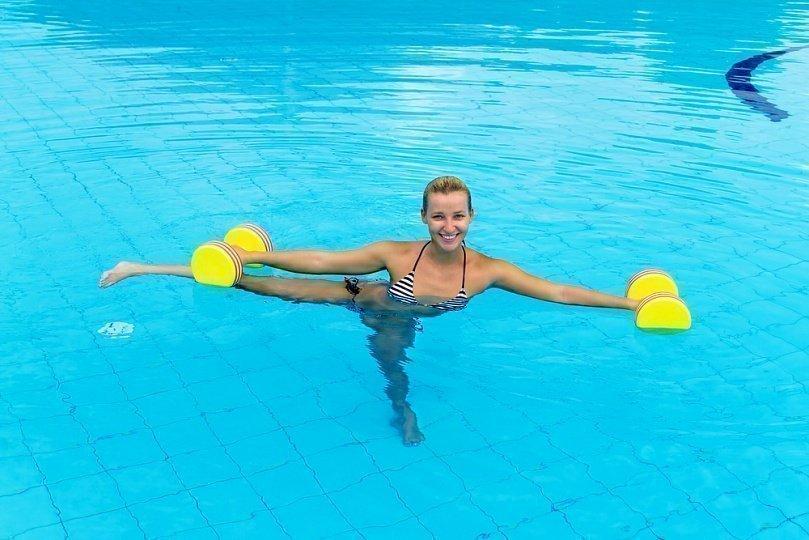 аквааэробика Упражнение для бедер
